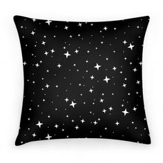 Black and White Twinkling Star... | Pillows and Pillow Cases | HUMAN