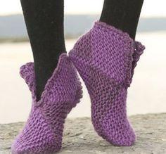 Pantuflas de botita muy fáciles de tejer