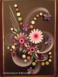 Картина панно рисунок Квиллинг Кривулька Бумажные полосы фото 5