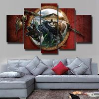 5 Pieces World Of Warcraft:Mists Of Pandaria Home Wall Decor Canvas Picture Art HD Print Painting On Canvas For Living Room Canvas Frame, Canvas Wall Art, Canvas Prints, Living Room Canvas, Panel Wall Art, Home Wall Decor, Diy Frame, World Of Warcraft, Home Art