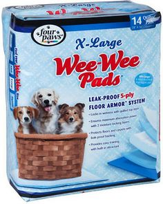 """Wee-Wee Extra Large Puppy Housebreaking Pads, 28"""" x 34"""""""