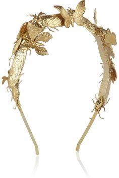 Eugenia Kim Milou embellished gold-tone headband NET-A-PORTER.COM