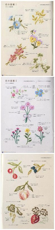 Lots of embroidery stitch ideas