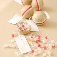 紅白花火玉お菓子 y600