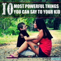 The 10 Most Powerful Things You Can Say to Your Kids Effective conversation helps parents create lasting, meaningful relationships with their kids. These 10 powerful statements can get you started on your way. You'll want to pin this to look back on. Kids And Parenting, Parenting Hacks, Peaceful Parenting, Parent Resources, Thing 1, Mothers Love, Raising Kids, Child Development, Just In Case