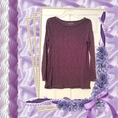 Lavender and black lightweight Loft t-shirt Lavender and black striped Loft t-shirt, lightweight, long sleeves, size small, excellent condition. LOFT Tops