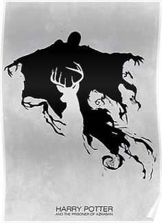HP3 Dementor and Stag by Zoe Toseland - Harry Potter and the Prisoner of Azkaban poster