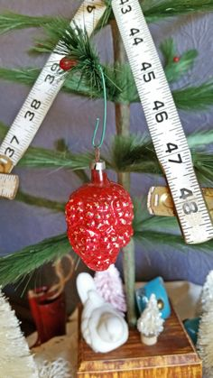 Vintage Glass Ornament Berry Cluster by TheVintiqueBoutique