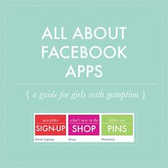 all about Facebook apps! What are they, how do I get one on my page, etc.