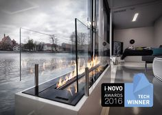Bioethanol fireplace insert / 1-sided FIRE LINE AUTOMATIC 3 Planika