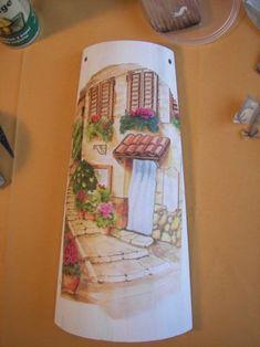 Como decorar una teja con decoupage tejas decoradas for Pintura para tejas