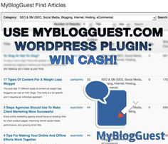 #Guest #blogging #plugin #contest @ http://myblogguest.com/blog/use-guest-blogging-plugin-win-cash-myblogguest-spring-contest/