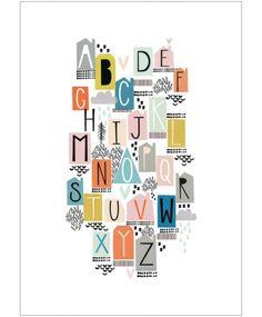 Alphabet A-Z Print