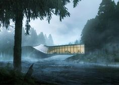 Twisted art museum by BIG to be built across a Norwegian river: http://www.dezeen.com/?p=783073  #architecture