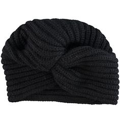 Black Cashmere Knit Turban Tk Maxx, Hats For Men, Turban, Winter Outfits, Scarves, Cashmere, Gloves, Beanie, Knitting