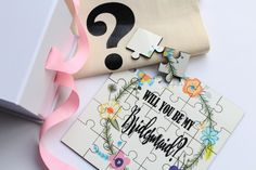 Bridesmaid Proposal Jigsaw, such a cute way to ask your tribe the big question.