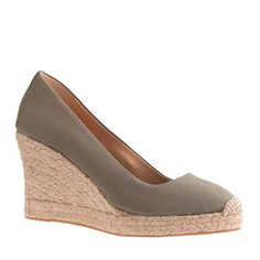 J.Crew - Seville wedge espadrilles, color-vintage surplus, item 64498, 2014  Finally! Been wanting this color for a couple years...
