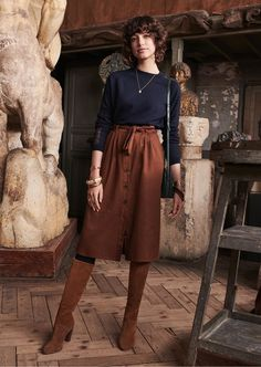 Best Winter Fashion For Work Picture Ideas - Unity Fashion Skirt Outfits, Casual Outfits, Cute Outfits, Modest Fashion, Fashion Outfits, Womens Fashion, Fall Winter Outfits, Autumn Winter Fashion, Skirts With Boots