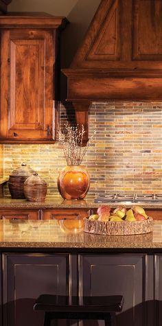 Rustic Kitchen Design by Dura Supreme Cabinetry Gourmet kitchen design wwwOakvilleRealEstateOnline.com