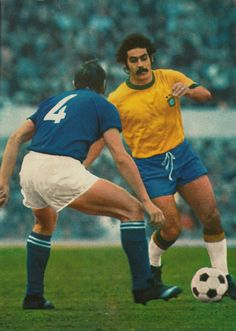 2b71d4d31a1d2 Italy 2 Brazil 0 in June 1973 in Rome. Rivelino has Tarcisio Burgnich to  pass in this friendly international.