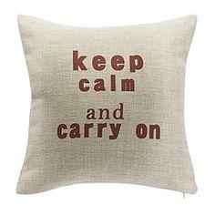 gardez calme et portez sur taie d'oreiller en coton décoratif