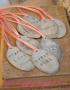 Personalized Silver Plate Hand Stamped Necklace by LipstickGypsy, $18.00