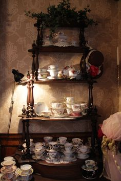 When having Victorian High Tea at the Schuster Mansion, before being seated, you get to pick which tea cup you get to pick from to sip your tea.