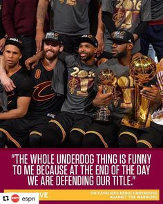 Repost ( ・・・ Kevin Love isn't buying it. Nba Sports, Sport Football, Cleveland Cavs, Sports Frames, Kevin Love, The Underdogs, Nba Champions, Lebron James, Espn