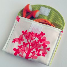 Earbud and iPod nano mp3 pouch case sewing pattern - pdf - email delivery - great for beginners. $5.00, via Etsy.