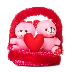 Buy Deals India Couple Love Teddy Bears in Basket- 30 cm, Pink Online at Low Prices in India - Amazon.in Good Evening Wishes, Evening Pictures, Good Night Love Images, Teddy Day, My Dear Friend, Are You Happy, Hello Kitty, Basket