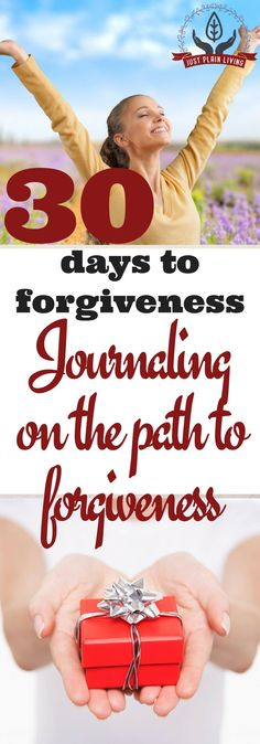 One great tool as you move along the path to forgiveness is a journal. The format is far less important than the content, though.