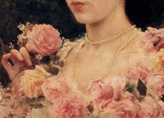 Federico Andreotti (1847-1930)  The Pink Rose (detail)