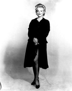 """""""Marilyn Monroe in a costume test for Bus Stop. """""""