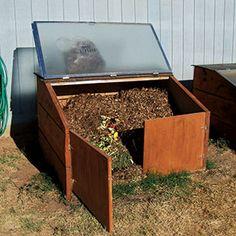 Shower Door Compost Bin.  An Organic Gardening reader shares how to make a compost bin using a recycyled shower door.