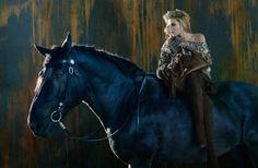 Dree Hemingway Gets Equestrian for Ermanno Scervinos Fall 2012 Campaign by Francesco Carrozzini