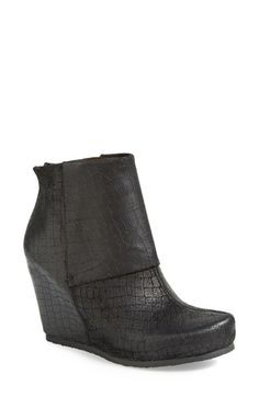 Free shipping and returns on OTBT 'Ringold' Leather Boot (Women) at Nordstrom.com. Exotic croc-embossing embellishes a wrapped-wedge bootie offered in weathered leather for a vintage look.
