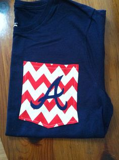 Atlanta Braves Monogrammed T-shirts on Etsy, $18.00