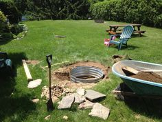 Built my in-ground fire pit this weekend! #fireplace #firepit #diy ...