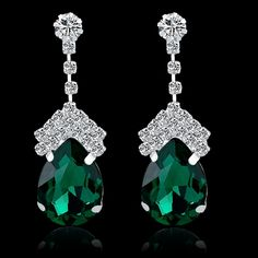 Find More Drop Earrings Information about Women Austrian Crystal Earrings Rhinestone Shining Drop Earrings Wedding Jewelry Fashion Silver Plated Dangle Earrings SER140308,High Quality jewelry phone,China jewelry anklet Suppliers, Cheap jewelry bridal from Long Way on Aliexpress.com