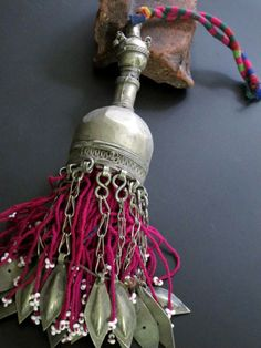 Large Old Turkmen Tribal Jewelry Bell Tassel...find objects that can be made into a tassel