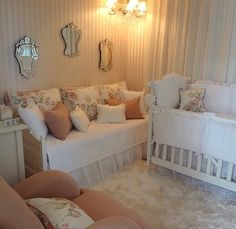 Luxe nursery. Neutral nursery. Elegant nursery.
