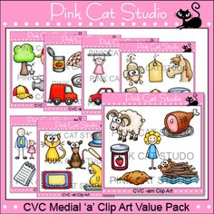 CVC Medial 'a' Clip Art Value Pack: The possibilities are endless for what you can create with these images!