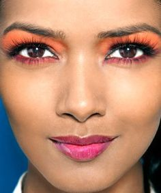 Colorblocking: The Makeup Edition #refinery29  http://www.refinery29.com/colorblock-beauty-makeup