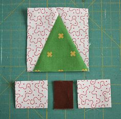 Fun and fast modern tree quilt block tutorial. Make your own personalized, imrpov wonky trees using your favorite fabrics. Quick cutting and assembly. Christmas Quilting Projects, Christmas Sewing, Christmas Tree Quilt Block Patterns, Christmas Patchwork, Diy Quilt, Quilt Top, Tutorial Patchwork, House Quilts, House Quilt Block