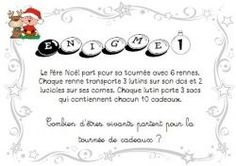 Calendrier de l'avent Enigmes - Cycle 2 Christmas Crafts, Christmas Decorations, Christmas Things, Merry Christmas, School Organisation, Bobe, Cycle 2, New Years Eve Party, Improve Yourself