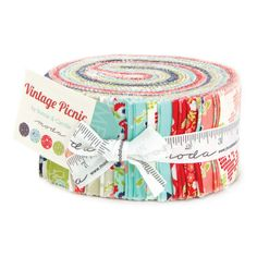 "Vintage Picnic Jelly Roll Moda Fabric Quilt 2 1/2"" Strips 100% Cotton 55120JR #Moda"
