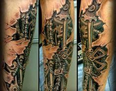 Biomechanical Tattoo Forearm