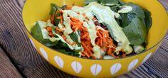 Spinach Salad with Orange-Avocado Dressing