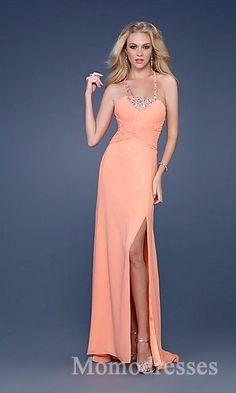 Sexy Sleeveless Satin Sheath Halter Evening Dresses Sale momodresses25525