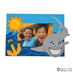 Shark Photo Frame Magnet Craft Kit - Oriental Trading...craft room option? I know these are WAY Cheesy, but I'm already picturing a few kids that would have fun with these if we offered them up!
